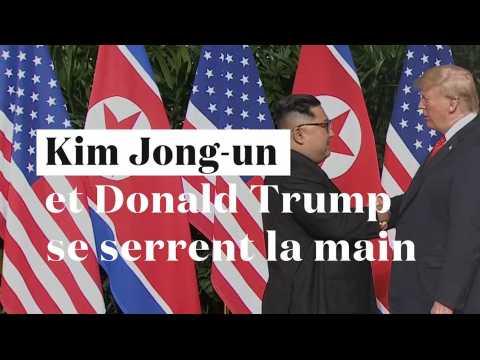 Poignée de mains historique entre Kim Jong-un et Donald Trump à Singapour