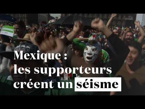 Coupe du Monde : les supporteurs mexicains créent un séisme