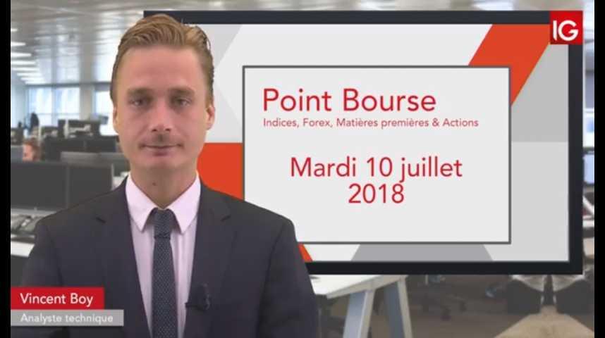 Illustration pour la vidéo Point Bourse du mardi 10 juillet 2018