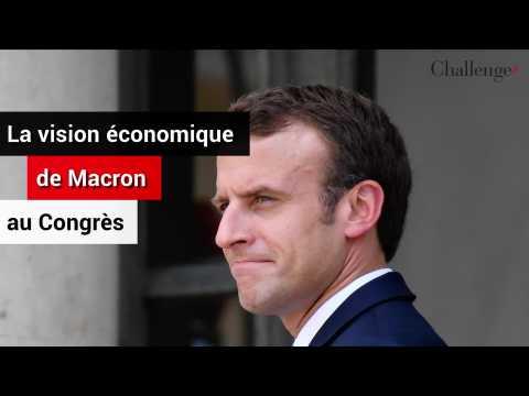 La vision économique de Macron au Congrès