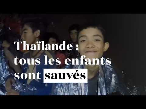 Grotte en Thaïlande : les 12 enfants et leur entraîneur sont sauvés