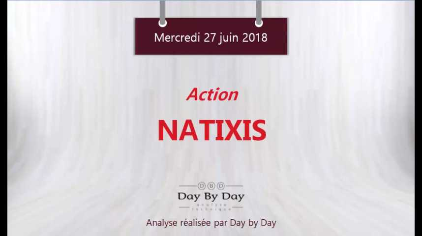 Illustration pour la vidéo Action Natixis : une configuration graphique baissière - Flash analyse IG 27.06.2018
