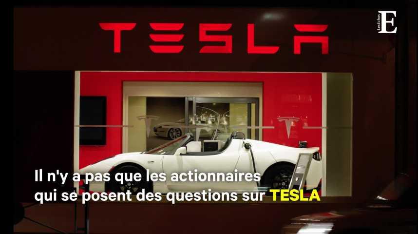 Illustration pour la vidéo Tesla dans l'angle mort