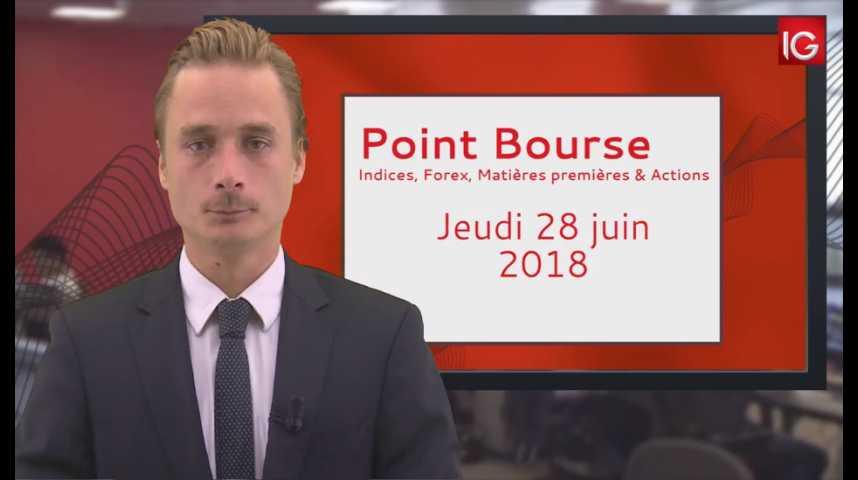 Illustration pour la vidéo Point Bourse IG du jeudi 28 juin