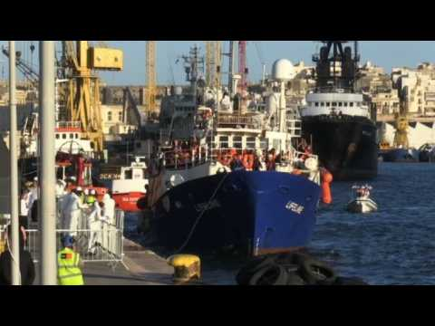 Lifeline rescue ship docks in Malta after six days at sea