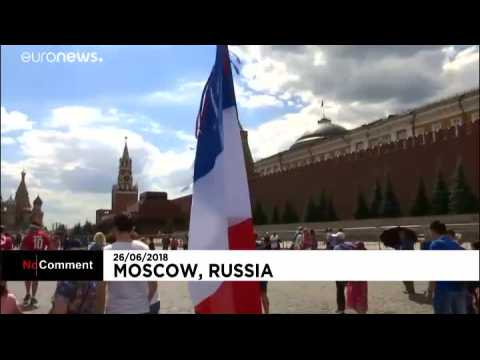 Baguettes and beer: French and Danes gear up for Moscow match