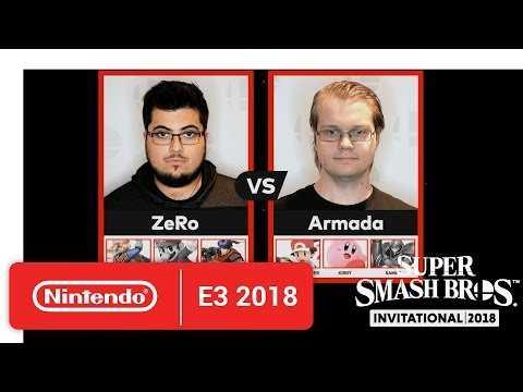 Super Smash Bros. Invitational 2018 - Round 2 Match 1 - Nintendo E3 2018