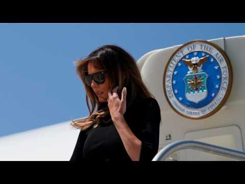 First Lady Melania Trump Visits Officials At Customs Facility