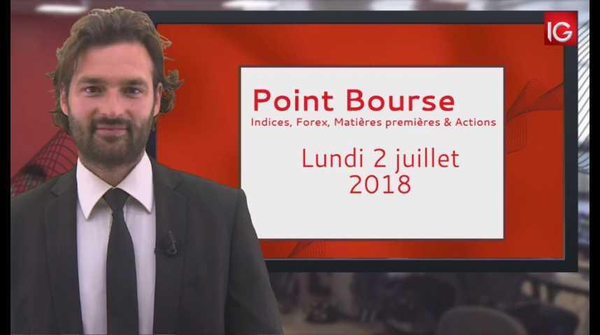 Illustration pour la vidéo Point Bourse IG du lundi 2 juillet