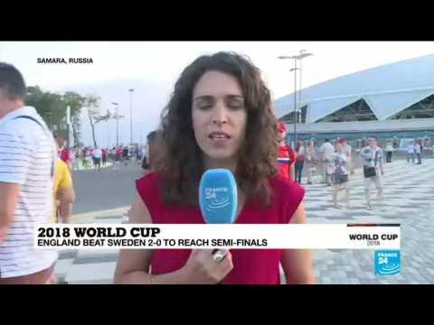 England beats Sweden 2-0 to reach World  Cup semi-finals
