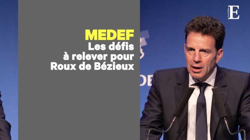 Illustration pour la vidéo Les 3 défis qui attendent Geoffroy Roux de Bézieux, le nouveau président du Medef