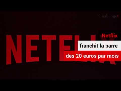 Netflix atteint les 20 euros par mois d'abonnement