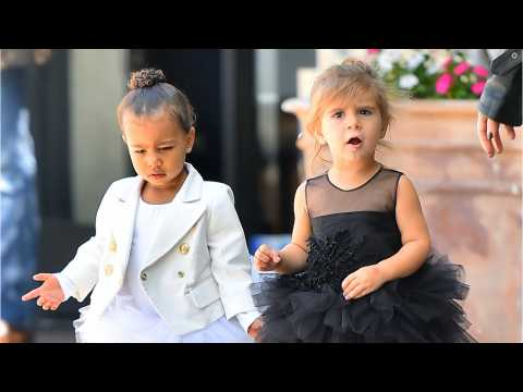 North West And Penelope Disick Celebrate Birthdays Unicorn-Themed Party
