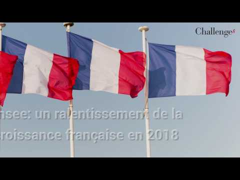Insee: un ralentissement de la croissance française en 2018