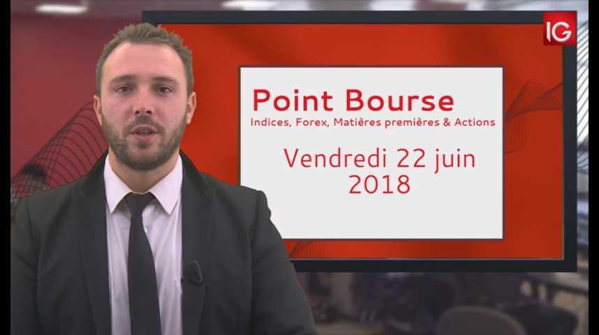 Illustration pour la vidéo Point Bourse IG du vendredi 22 juin