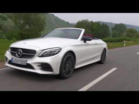 Mercedes-Benz C 300 Cabriolet in Diamond white Driving Video