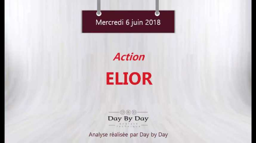 Illustration pour la vidéo Action Elior : perspectives baissières sous la résistance majeure - Flash Analyse IG 06.06.2018