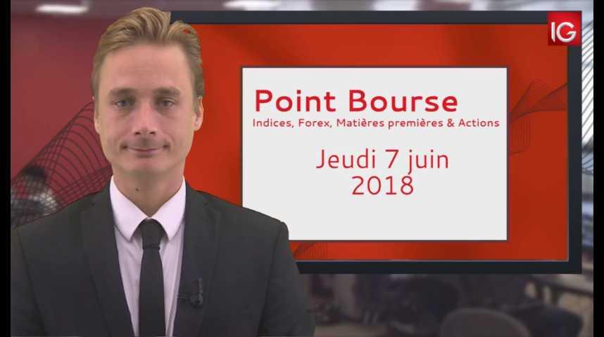 Illustration pour la vidéo Point Bourse IG du Jeudi 7 juin