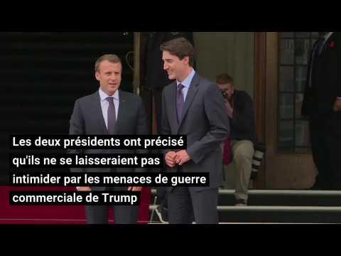 G7 : Macron et Trudeau mettent la pression sur Trump