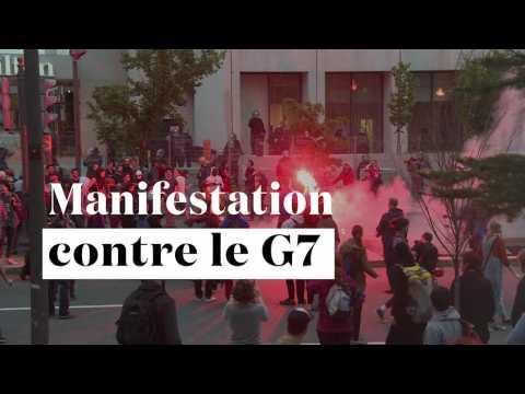 Des centaines de personnes manifestent contre le sommet du G7 au Canada