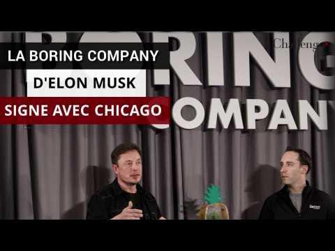 La Boring Company d'Elon Musk signe avec la vile de Chicago