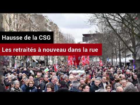 Hausse de la CSG: les retraités à nouveau dans la rue