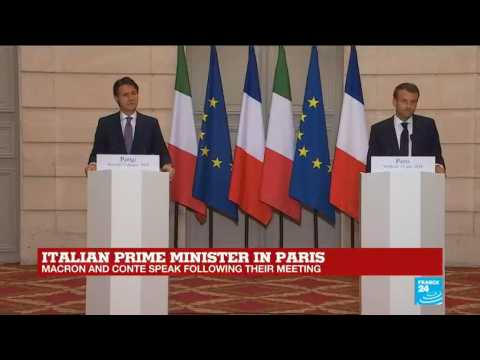REPLAY - French president Macron and Italian Prime Minister Conte speak following their meeting in Paris