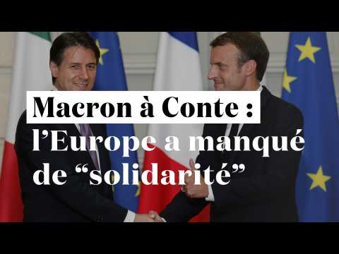 """Macron : """"La solidarité européenne à l'égard de l'Italie n'a pas été au rendez-vous"""""""