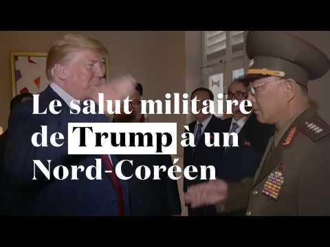 Oups ! Donald Trump a adressé un salut militaire... à un général nord-coréen