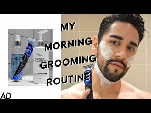My Morning Grooming Routine- Beard Grooming & Shaping - Gillette ProGlide Styler #AD  James Welsh