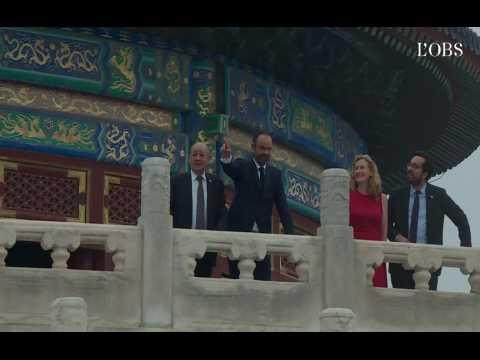 Edouard Philippe en Chine, entre visite de temple et signature de contrats