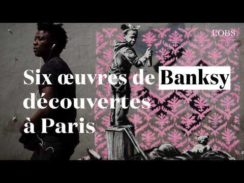 Six nouvelles œuvres de Banksy découvertes à Paris