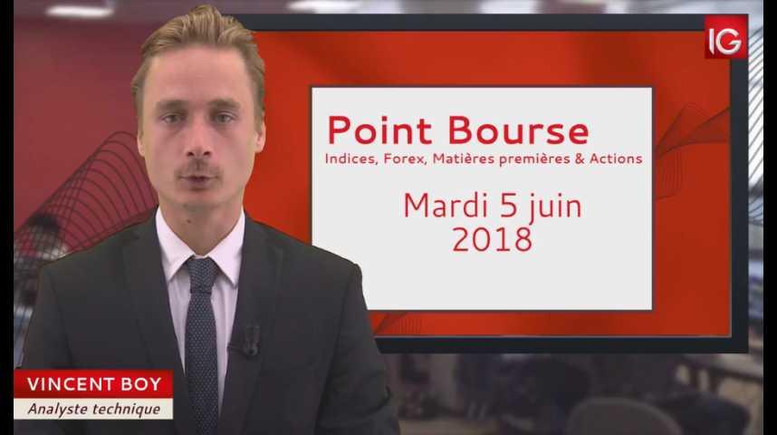 Illustration pour la vidéo Point Bourse du mardi 5 juin 2018