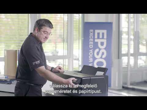 'Ismertető videó az Epson SureColor SC-P800 használatához