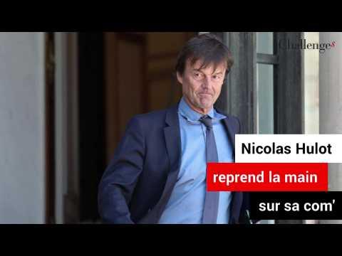 Nicolas Hulot reprend la main sur sa com'