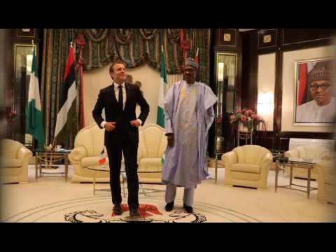 Emmanuel Macron en voyage au Nigeria