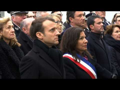 French president Macron pays tribute to Charlie Hebdo victims