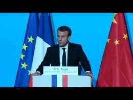 """Macron propose à la Chine de """"relancer la bataille climatique"""""""