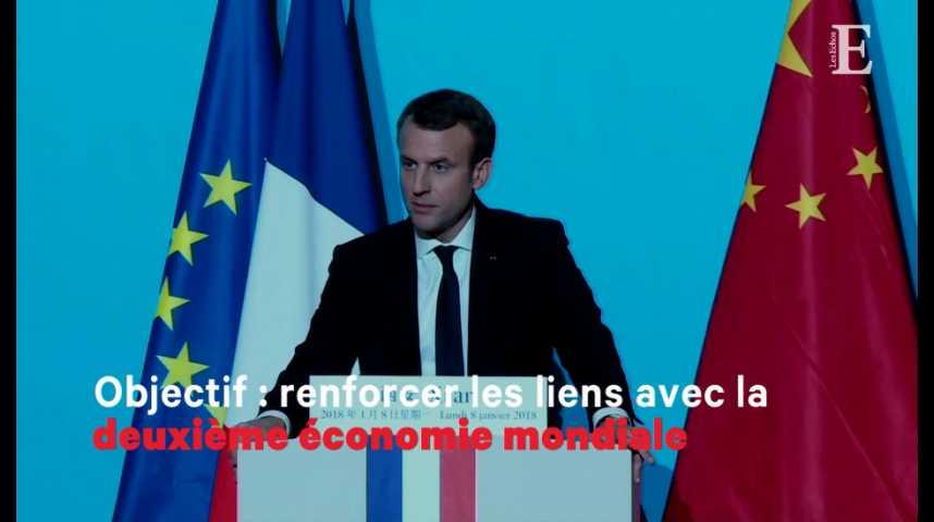 Illustration pour la vidéo Première visite d'Etat en Chine pour le président Macron
