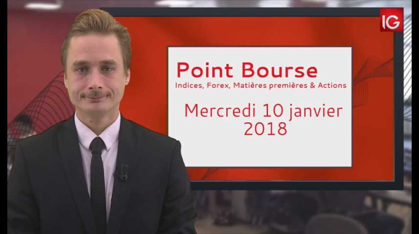 Illustration pour la vidéo Point Bourse IG du 10.01.2018