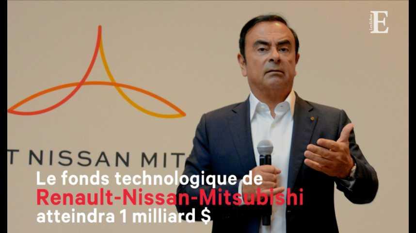 Illustration pour la vidéo Le fonds technologique de Renault-Nissan-Mitsubishi atteindra 1 milliard de dollars