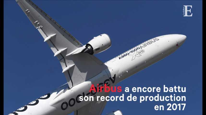 Illustration pour la vidéo Airbus a encore battu son propre record de production en 2017