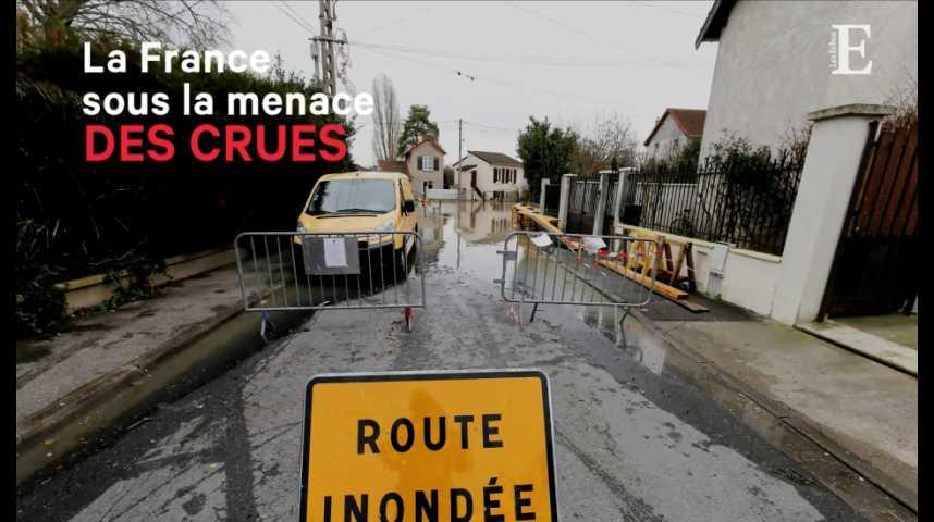 Illustration pour la vidéo La France sous la menace des crues