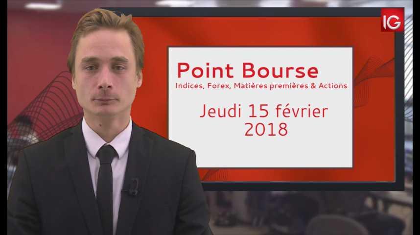 Illustration pour la vidéo Point Bourse IG du 15.02.2018