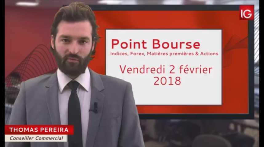Illustration pour la vidéo Point Bourse du vendredi 2 février 2018