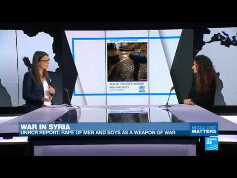 War in Syria: UNHCR reports rape of men and boys as a weapon of war