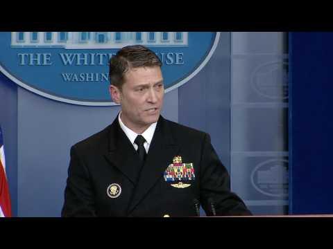 """Trump a été """"très bon"""" lors de son examen cognitif, selon le médecin de la Maison Blanche"""