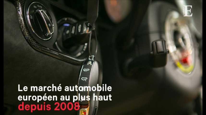 Illustration pour la vidéo Le marché automobile européen au plus haut depuis 2008