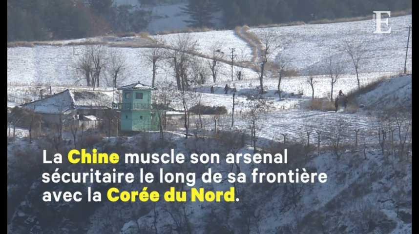Illustration pour la vidéo Les Chinois sur le qui-vive à la frontière nord-coréenne