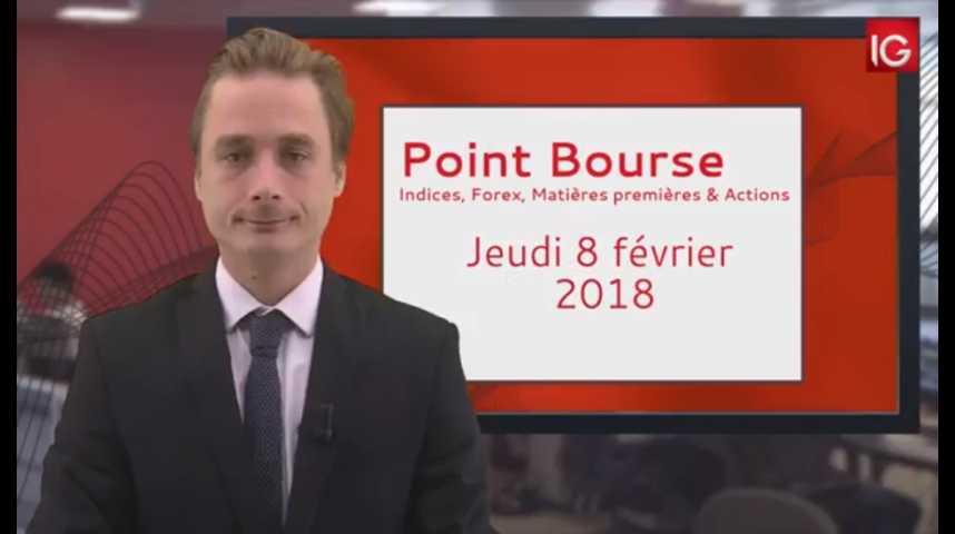 Illustration pour la vidéo Point Bourse du jeudi 8 février 2018